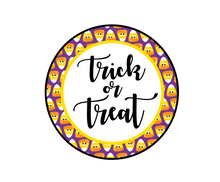 Load image into Gallery viewer, Trick or Treat 2 Package Tag - Dots and Bows Designs
