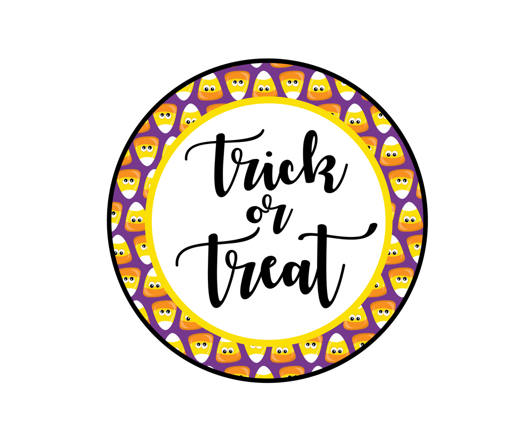 Trick or Treat 2 Package Tag - Dots and Bows Designs