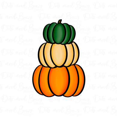 Stacked Pumpkins Platter STL Cutter Set Files - Dots and Bows Designs