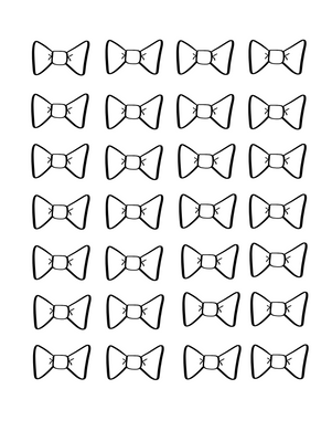 Bow 2 Icing Transfer Sheets - Dots and Bows Designs