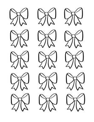 Bow 1 Icing Transfer Sheets - Dots and Bows Designs