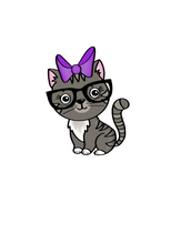 Load image into Gallery viewer, Nerdy Kitty Cat Cutter - Dots and Bows Designs