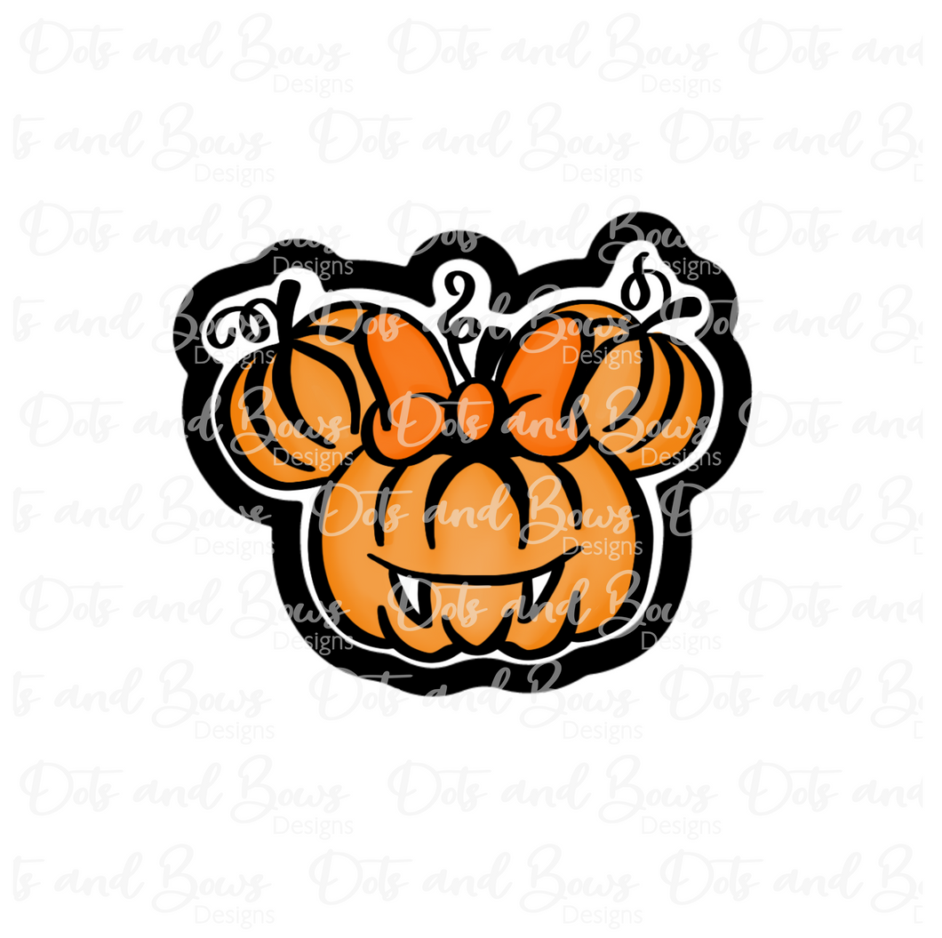 Vampire Pumpkin Minnie Cutter