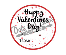 Load image into Gallery viewer, Valentine To From Package Tags - Dots and Bows Designs