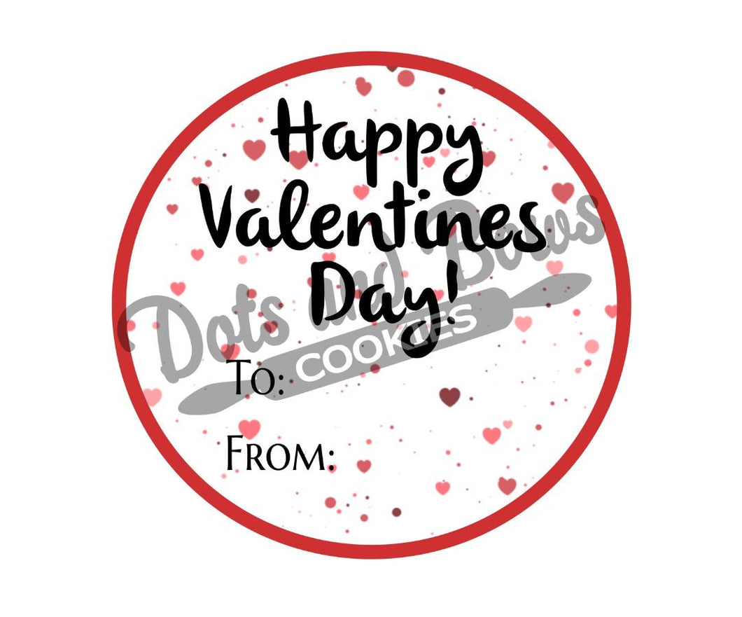 Valentine To From Package Tags - Dots and Bows Designs