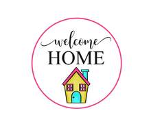 Load image into Gallery viewer, Welcome Home w House Package Tags - Dots and Bows Designs
