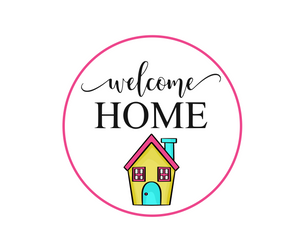 Welcome Home w House Package Tags - Dots and Bows Designs