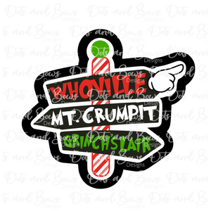 Whoville Direction Sign STL Cutter File
