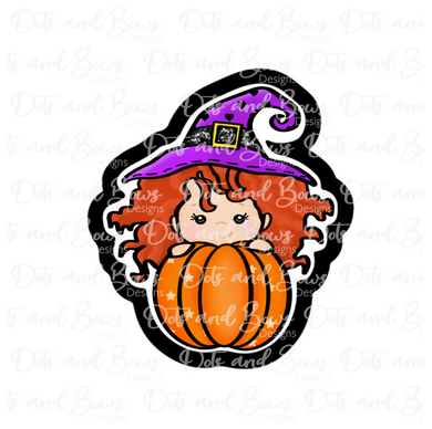 Witchy Pumpkin STL Cutter File