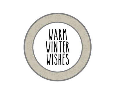 Warm Winter Wishes RDI Package Tags - Dots and Bows Designs