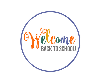 Welcome Back 1 Multi-Color Script Package Tags - Dots and Bows Designs