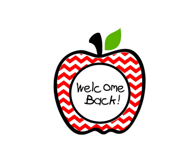 Welcome Back Apple Full Package Tags - Dots and Bows Designs