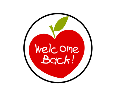 Welcome Back Apple Solid Package Tags - Dots and Bows Designs