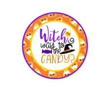 Load image into Gallery viewer, Witch Way To The Candy Package Tag - Dots and Bows Designs