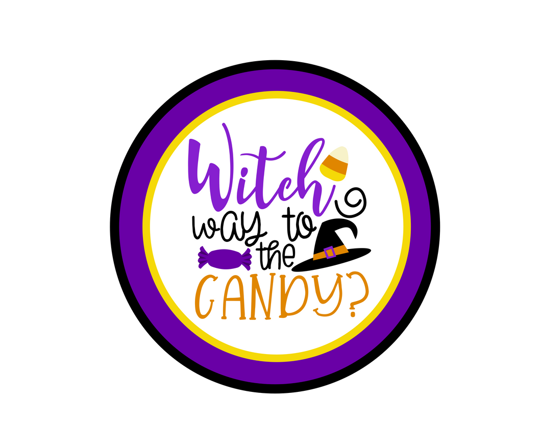 Witch Way To The Candy 2 Package Tag - Dots and Bows Designs