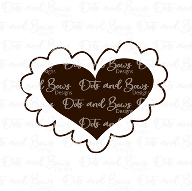 Wonky Scalloped Heart STL Cutter File