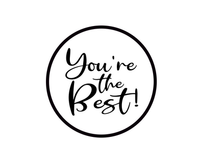 You're the Best BW Package Tags - Dots and Bows Designs