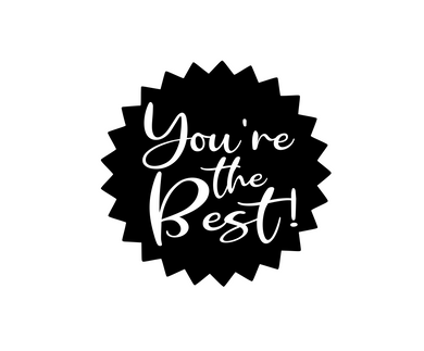 You're the Best Starburst Black Package Tags - Dots and Bows Designs