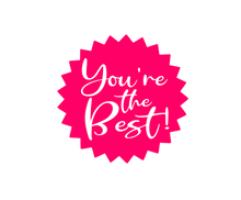 Load image into Gallery viewer, You're the Best Starburst Pink Package Tags - Dots and Bows Designs