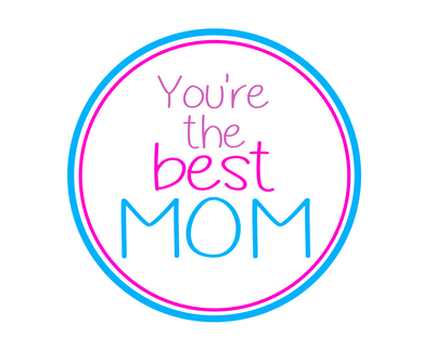 You're The Best Mom Multicolor Package Tags - Dots and Bows Designs
