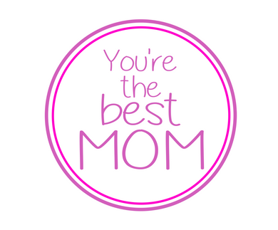 You're The Best Mom Purple Package Tags - Dots and Bows Designs