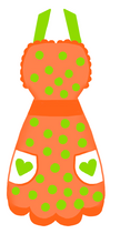 Load image into Gallery viewer, Apron Cutter - Dots and Bows Designs