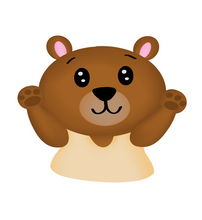 Load image into Gallery viewer, Baby Bear Cutter - Dots and Bows Designs