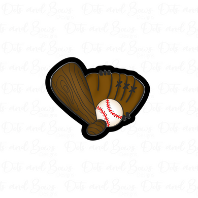 Bat, Glove and Ball Cutter - Dots and Bows Designs