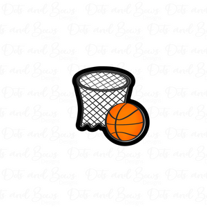 Basketball Net and Ball Cutter - Dots and Bows Designs