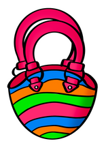 Load image into Gallery viewer, Beach Bag STL Cutter File - Dots and Bows Designs