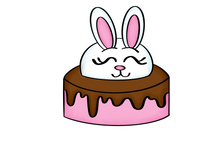 Load image into Gallery viewer, Bunny Cake Cutter - Dots and Bows Designs