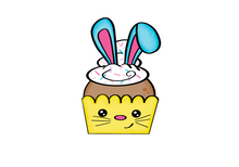 Load image into Gallery viewer, Bunny Cupcake Cutter - Dots and Bows Designs