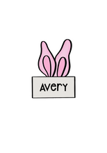 Load image into Gallery viewer, Bunny Ear Plaque Cutter - Dots and Bows Designs