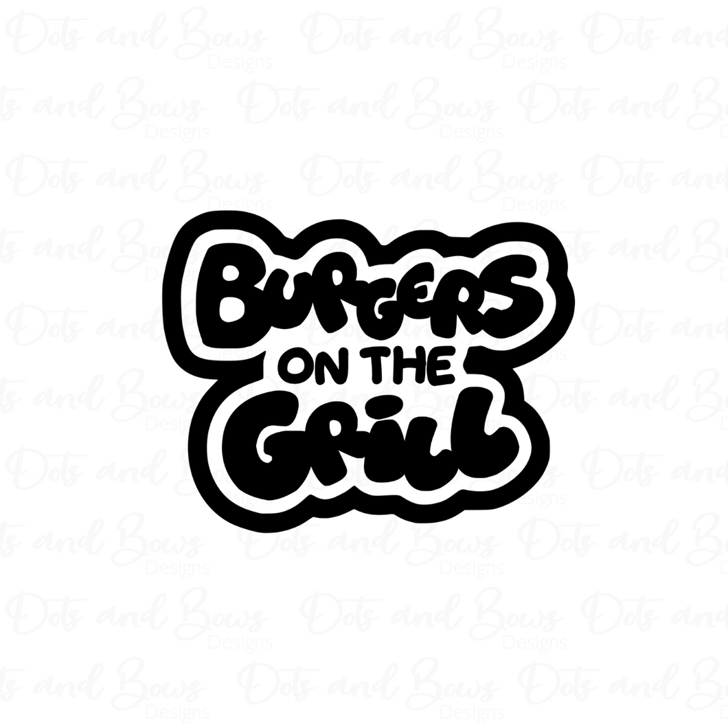 Burgers on the Grill Cutter - Dots and Bows Designs