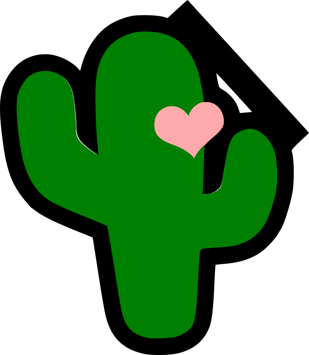 Cactus with Heart Cutter - Dots and Bows Designs