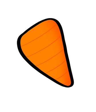 Carrot STL Cutter File - Dots and Bows Designs