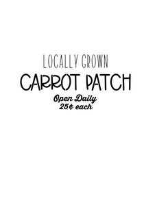 Carrot Patch Stencil - Dots and Bows Designs