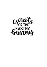Load image into Gallery viewer, Carrots for the Easter Bunny Word Cutter - Dots and Bows Designs
