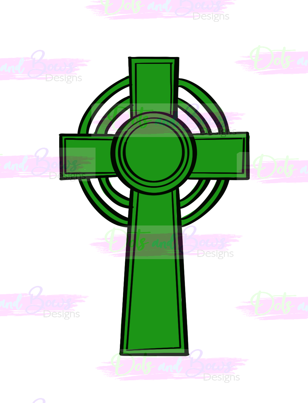 Celtic Cross Cutter - Dots and Bows Designs