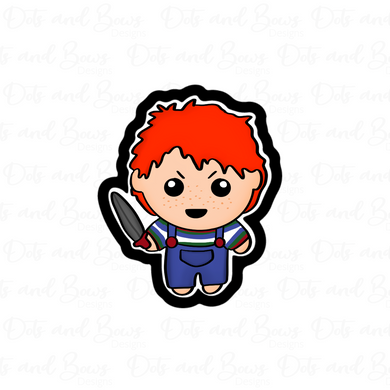 Chucky STL Cutter File - Dots and Bows Designs
