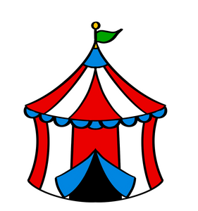Circus Tent Cutter - Dots and Bows Designs