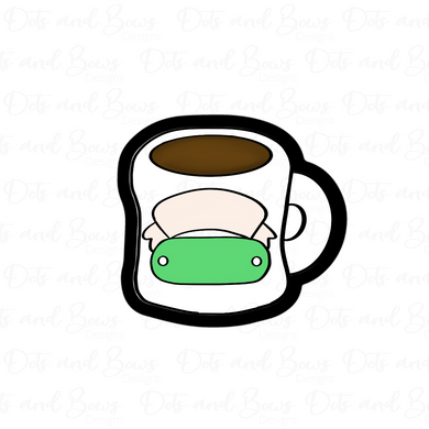 Chubby Coffee Mug STL Cutter File - Dots and Bows Designs
