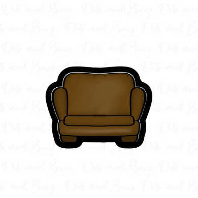 Chubby Couch STL Cutter File - Dots and Bows Designs