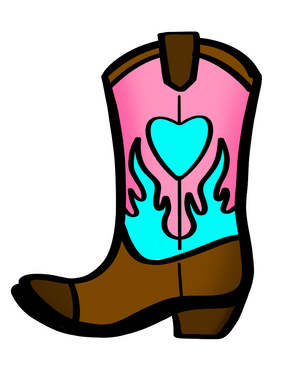 Cowgirl Boot STL Cutter File - Dots and Bows Designs