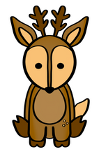 Load image into Gallery viewer, Deer Cutter - Dots and Bows Designs
