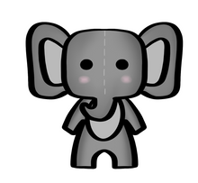 Load image into Gallery viewer, Elephant Baby STL Cutter File - Dots and Bows Designs