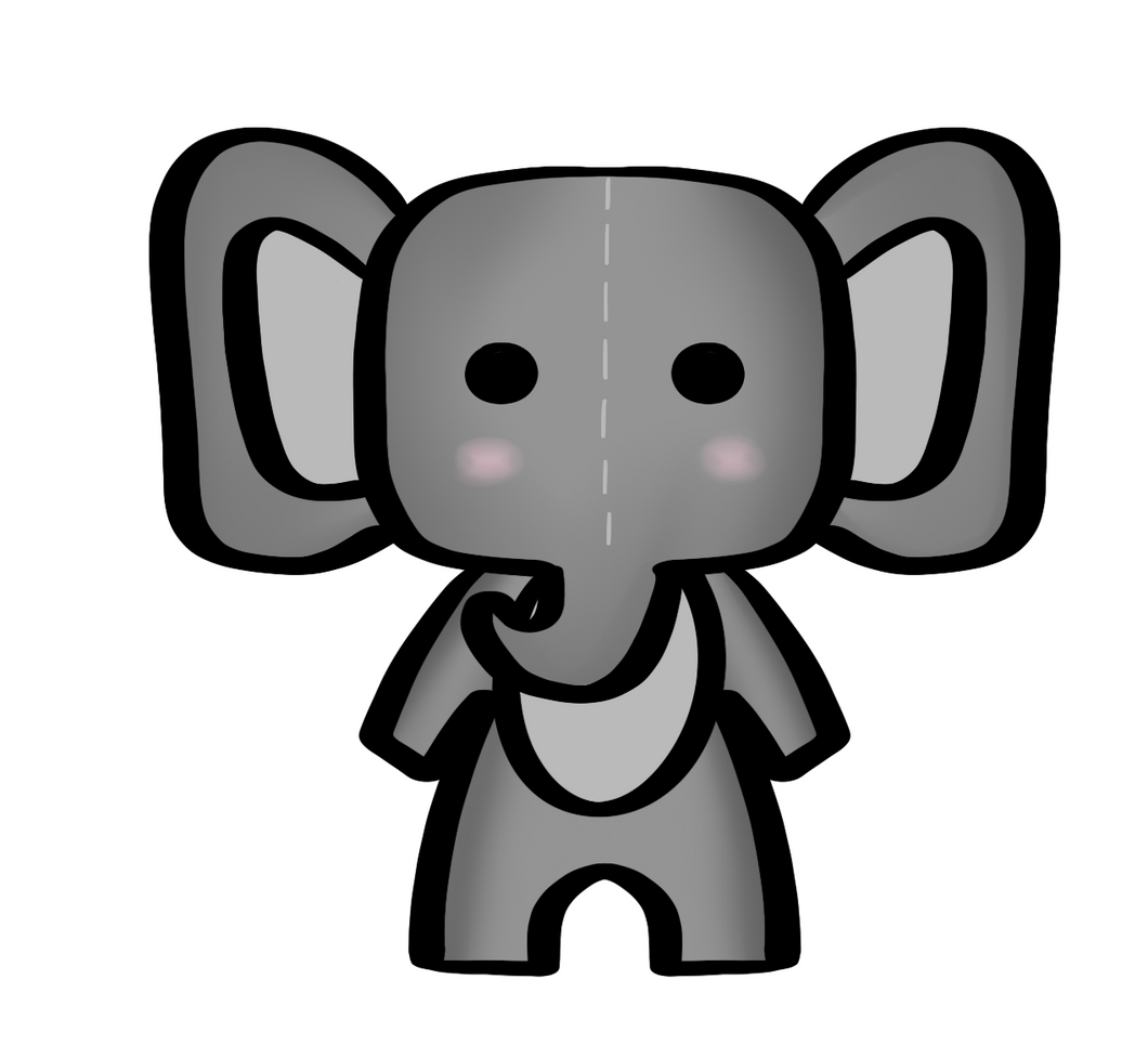 Elephant Baby STL Cutter File - Dots and Bows Designs