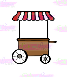 Food Cart Cutter - Dots and Bows Designs