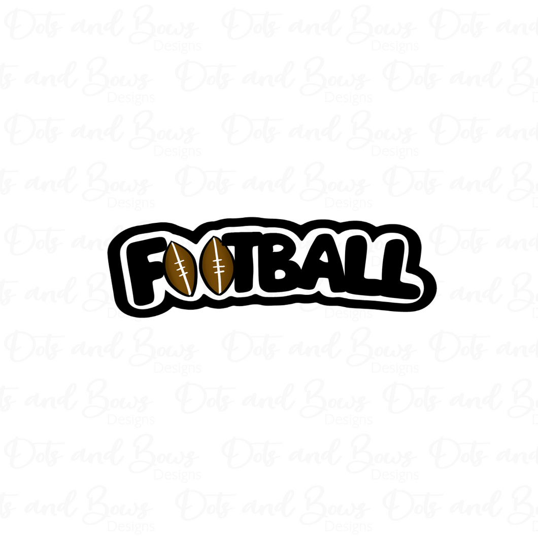 Football STL Cutter File - Dots and Bows Designs