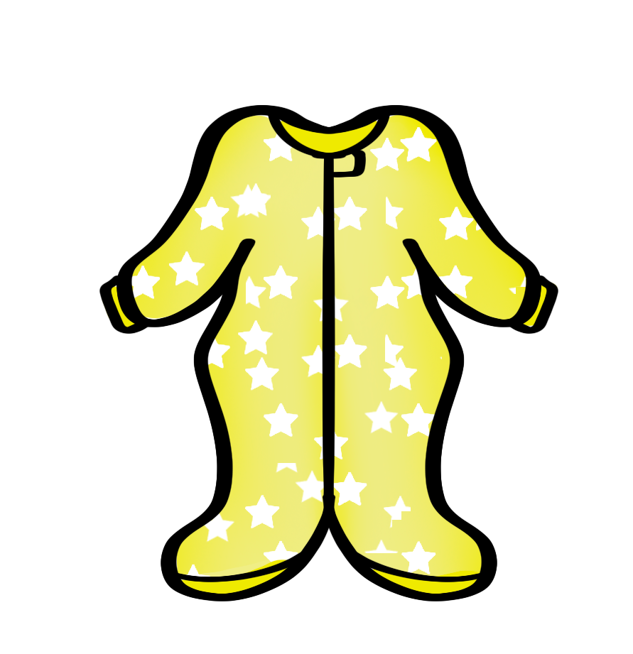 Footed PJs STL Cutter File - Dots and Bows Designs